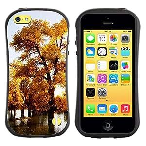 Paccase / Suave TPU GEL Caso Carcasa de Protección Funda para - Nature Beautiful Forrest Green 75 - Apple Iphone 5C