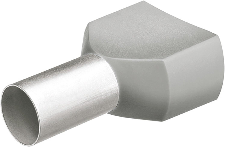 KNIPEX 97 99 370 Twin-Aderendh/ülsen mit Kunststoffkragen