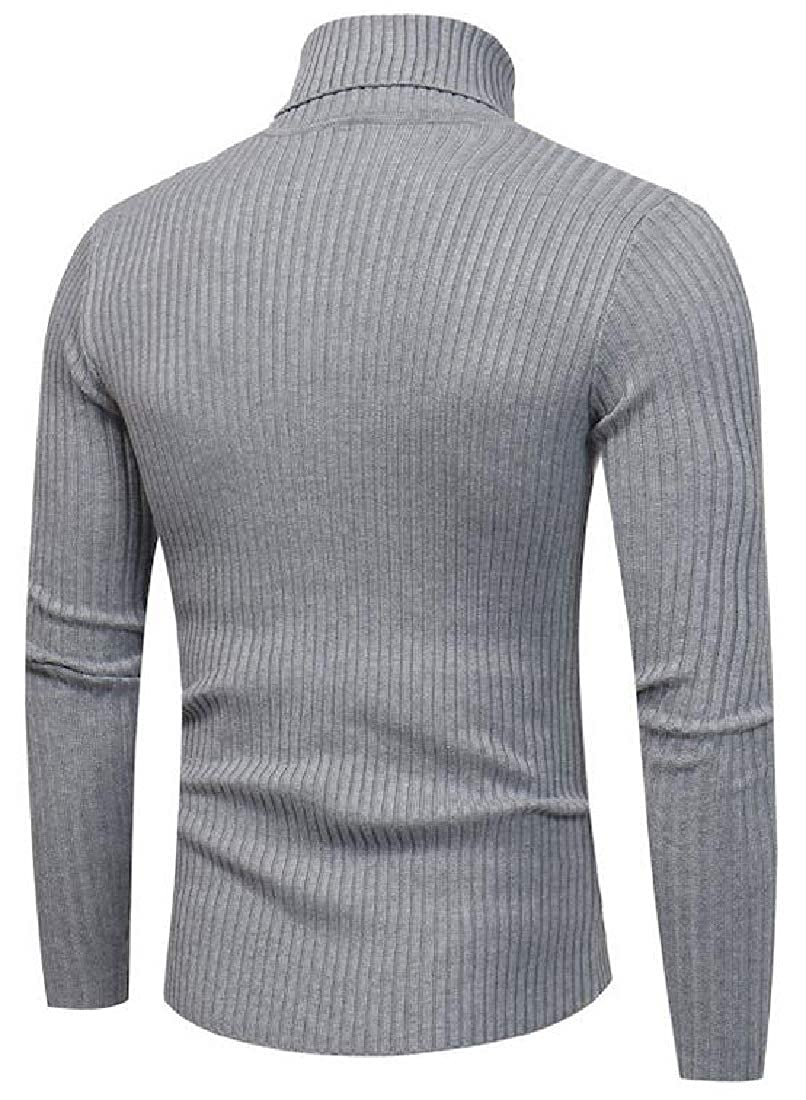 omniscient Men/'s Fashion Relax Fit Turtle Neck Wool Blend Pullover Sweater