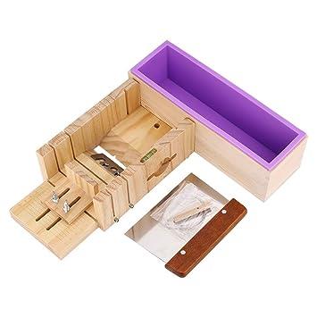 Cortador de jabón, multifunción, cortador de jabón ajustable de madera, molde y jabón