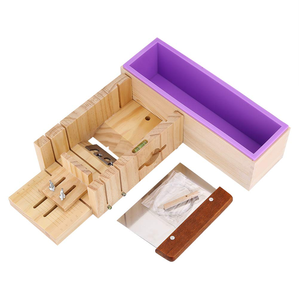 Silicone Soap Mold Wooden Box Cake Maker Cutting Slicer Cutter Making Tool DIY Soap Loaf Cutter Mold