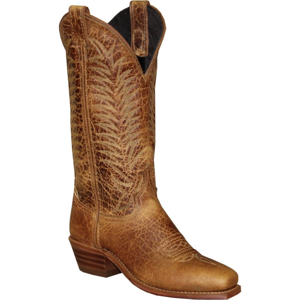 Abilene Women's Textured Bison Western Boot Square Toe - 9227 B01N7WGX8W 8.5 B(M) US|Tan