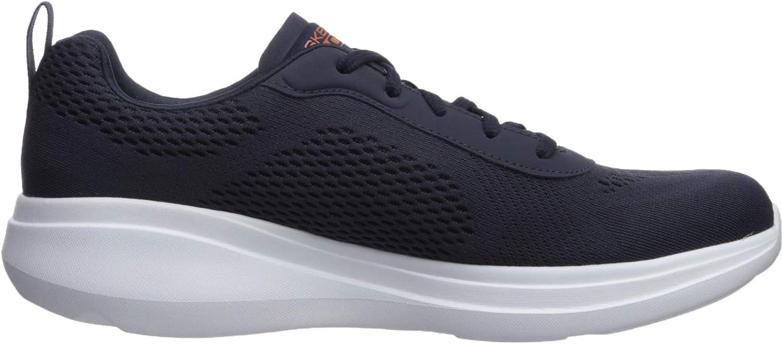 Skechers Go Run Fast - Sneaker da uomo in materiale sintetico, colore: Borgogna/Bianco Navy