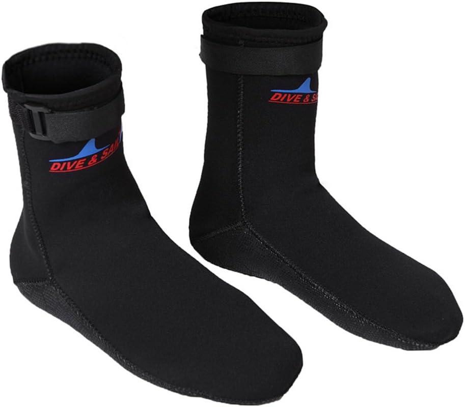 Men Women Water Shoes Wetsuit Sox Water Skin Shoes for Diving//Canoe// Kayak//Sailing//Surfing 3mm Neoprene Water Sock