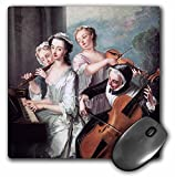 BLN Music Featured in Fine Art Collection - The Five Senses The Sense of Hearing, c. 1750 by Philippe Mercier - MousePad (mp_173834_1)