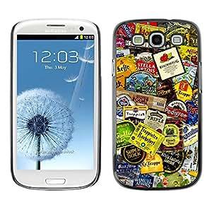 Qstar Arte & diseño plástico duro Fundas Cover Cubre Hard Case Cover para SAMSUNG Galaxy S3 III / i9300 / i747 ( Product Design Tags Colorful Modern Art)