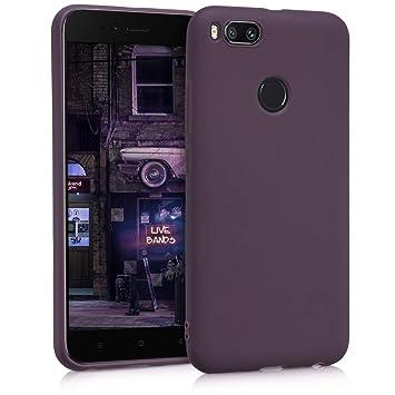 kwmobile Funda compatible con Xiaomi Mi 5X / Mi A1 - Carcasa de TPU silicona - Protector trasero en violeta mate