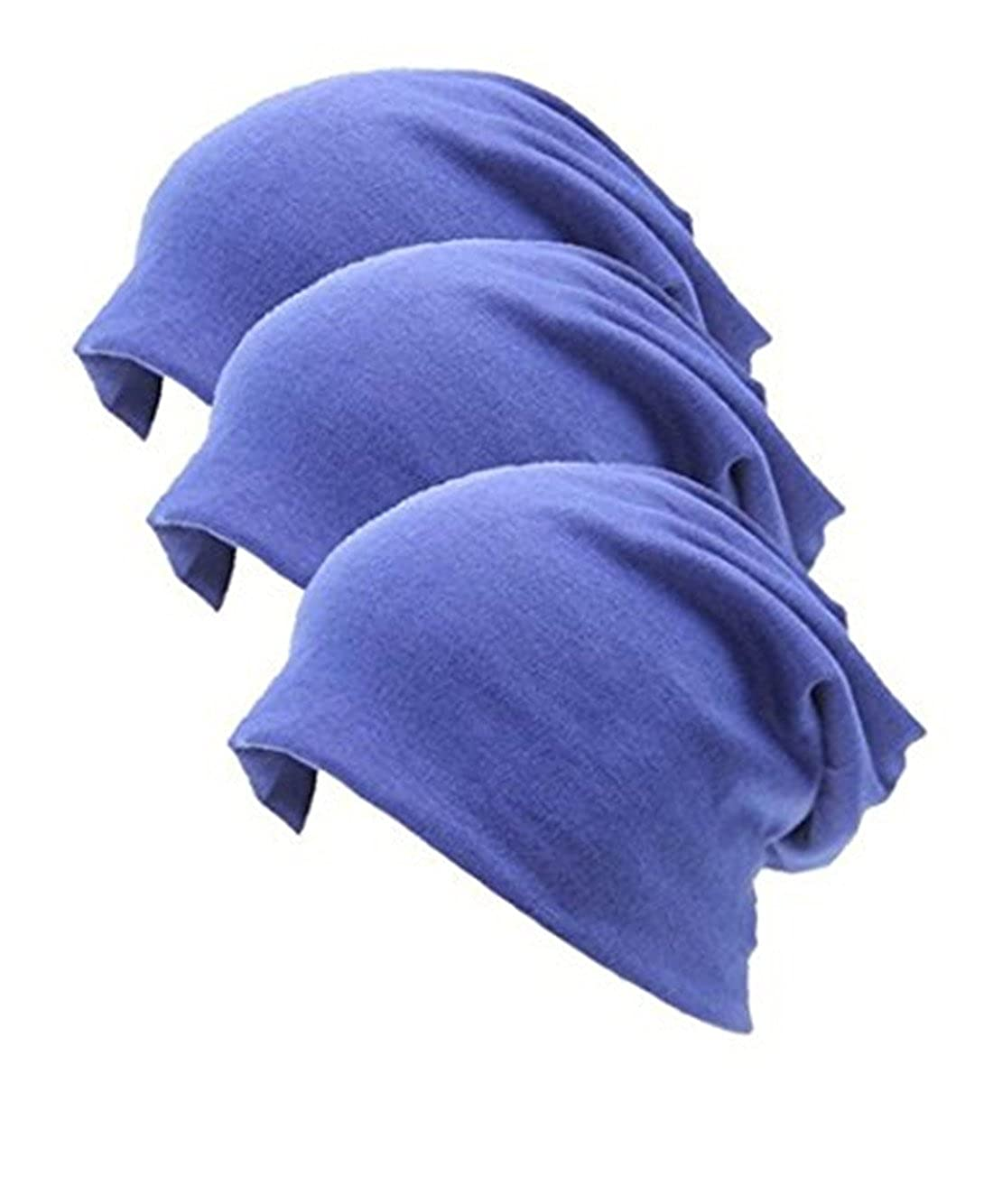 Lydreewam Fashion 3 Pack Unisex Soft Comfy Cotton Beanie Schlaf und Chemo Cap Hüte für Hairloss, Krebs gthcankl-22