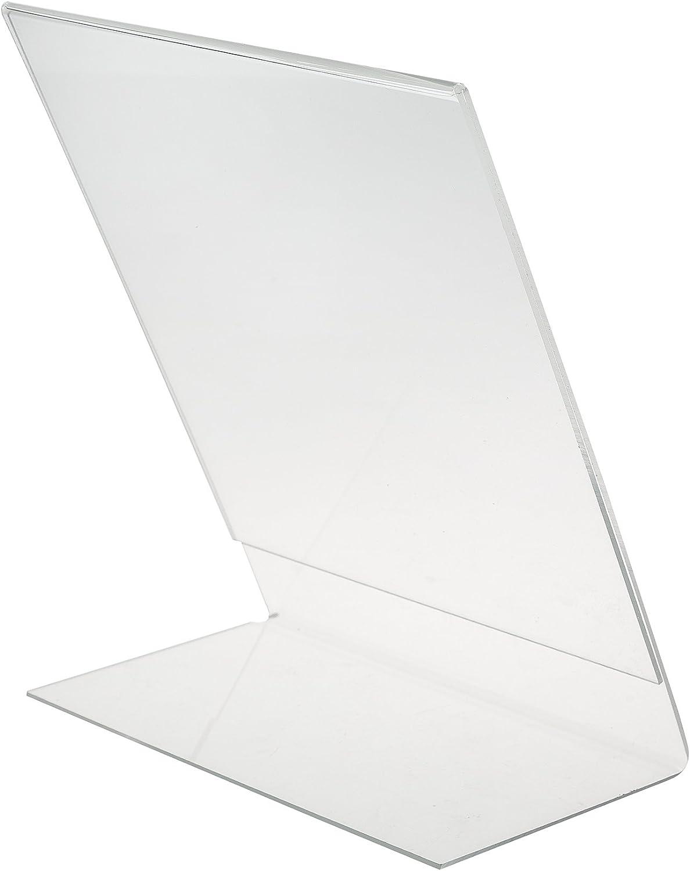UV-best/ändig transparente Werbeaufsteller im Hochformat als glasklare Tischaufsteller zur Werbepr/äsentation von Flyern /& Prospekten DIN A4 L-St/änder Aufsteller aus Acrylglas 5er Set
