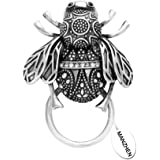MANZHEN Vintage Bumble Bee Trendy Magnetic Eyeglass Holder Brooches Pin for Shirt