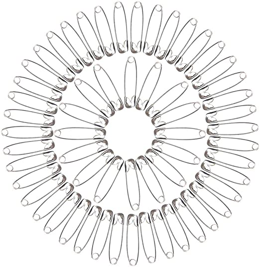 300 Pezzi nuluxi Spille di Sicurezza con Scatola di Immagazzinaggio Spille di Zucca Accessori per la Casa Spille di Aicurezza Colorate per Artigianato Adatto per Fai-da-Te Abbigliamento Artigianato
