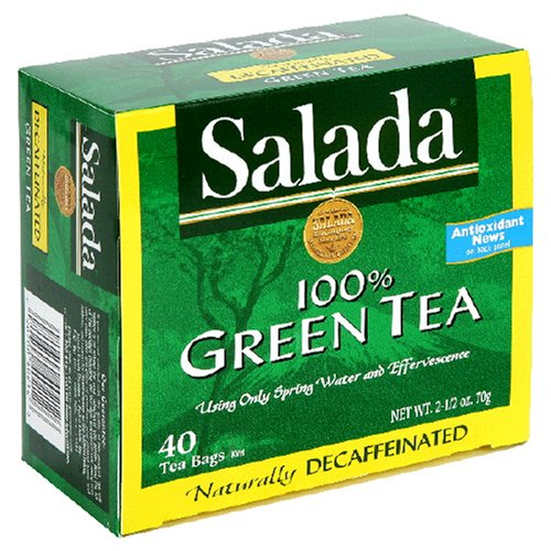 Salada Decaffeinated Green Tea, 40-Count Boxes (Pack of - Green Tea Salada