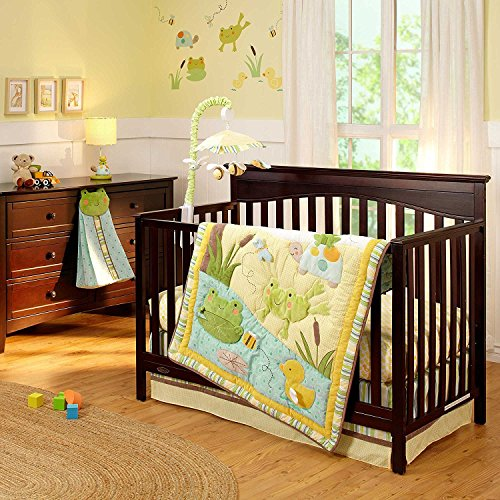 Froggy Diaper Stacker (Carter's Pond Collection 4 Piece Crib Set)