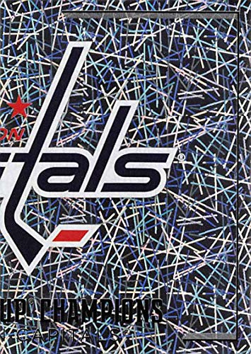2018-19 Panini NHL Stickers Collection #566 Washington Capitals FoilOfficial Hockey Sticker (smaller than a regular card)