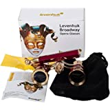 Levenhuk Broadway 325N Opera Glasses (red lorgnette with LED light) 3x with accessory kit