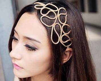 élégant et gracieux gamme exceptionnelle de styles meilleur fournisseur BOOLAVARD évider tressé or Bandeau extensible Accessoires cheveux Gossip  Girl