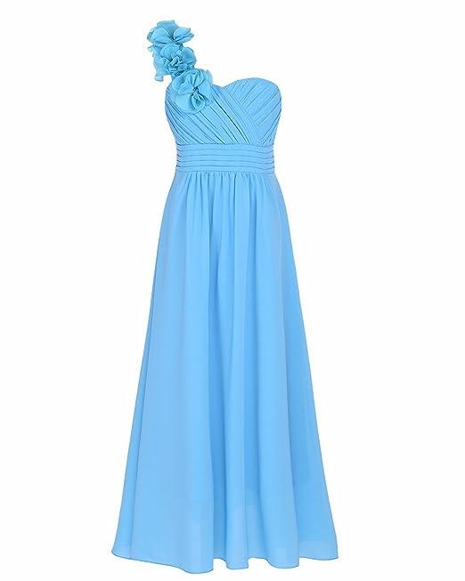 YiZYiF Vestidos Largos con Flores Elegante Vestido De Boda para Niñas Trajes de Comunion Noche Fiesta