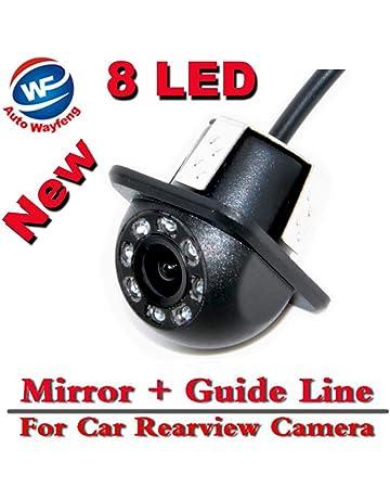 Auto Wayfeng® 8 LED HD CCD coche cámara de visión trasera Night Vision Gran angular