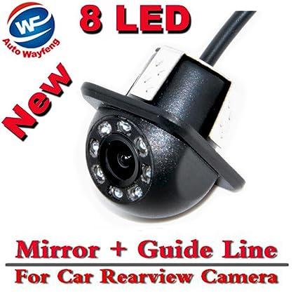 Auto Wayfeng® 8 LED HD CCD coche cámara de visión trasera Night Vision Gran angular ...