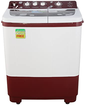 Videocon VS73J22 Quanta+ Semi automatic Top loading Washing Machine  7.3 Kg, Dark Maroon  Washing Machines   Dryers