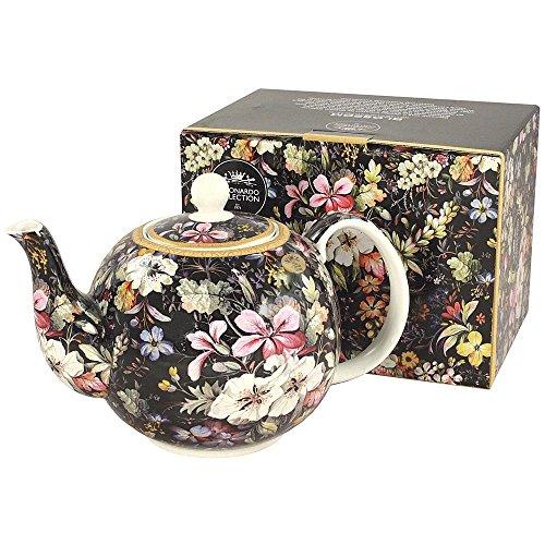 - English Maxwell Williams Kilburn Midnight Blossom Teapot