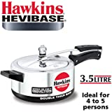 Hawkins Hevibase 3.5L Pressure Cooker with Induction Compatible Base (IH35) (8901165634821 Silver)