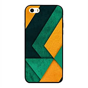 iPhone 5/ 5s/ SE Case Cover Yellow Green & Dark Green Color Pattern, Moreau Laurent Designer Phone Cases & Covers