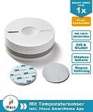 Rauchmelder (VdS - DIN EN 14604) - Dual und Funk Vernetzbar + Magnethalterung + Lithium 10 Jahres Batterie + Smart Home ready von iHaus