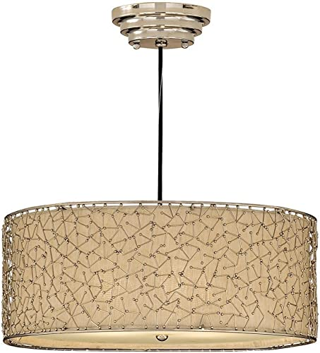 Uttermost Silver 21154 Brandon 3-Light Hanging Shade