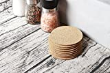 Set of 24 Cork Bar Drink Coasters - Absorbent and