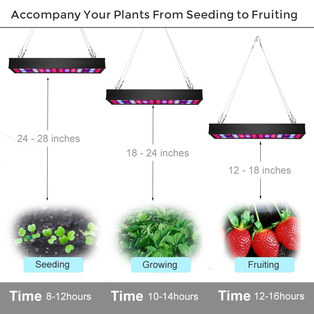 36W Full Spectrum LED Grow Light with UV & IR,No Noise Led Grow Light Bulb with Daisy Chain for Indoor Plants.Cool When Running,Energy-efficient,Works for All Stages by Antievening (Image #7)