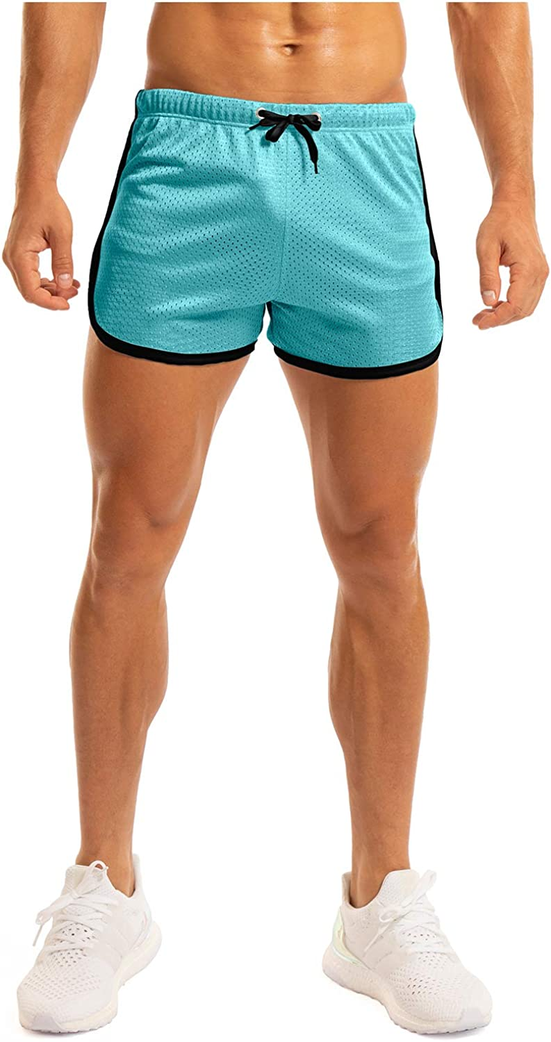 Ouber Men's Fitted Shorts Bodybuilding Workout Gym Running Tight Lifting Shorts