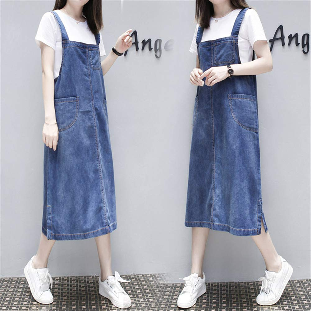 822aa0aa38 Aimeely Women Loose Casual Denim Overall Dress Suspender Jumper Jean Skirt  Plus Size: Amazon.ca: Clothing & Accessories