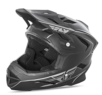 Fly Racing Downhill – Casco para bicicleta de montaña Default Color Negro Mate, Unisex,