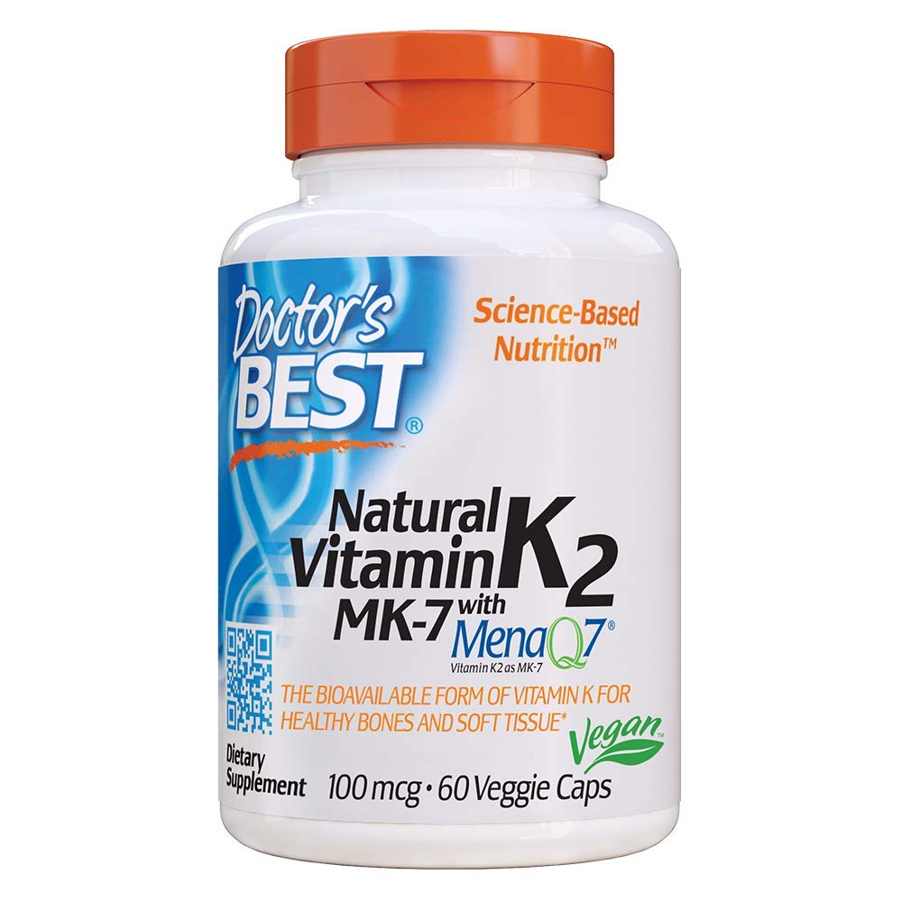 Doctor's Best Natural Vitamin K2 Mk-7 with MenaQ7, 60 Count