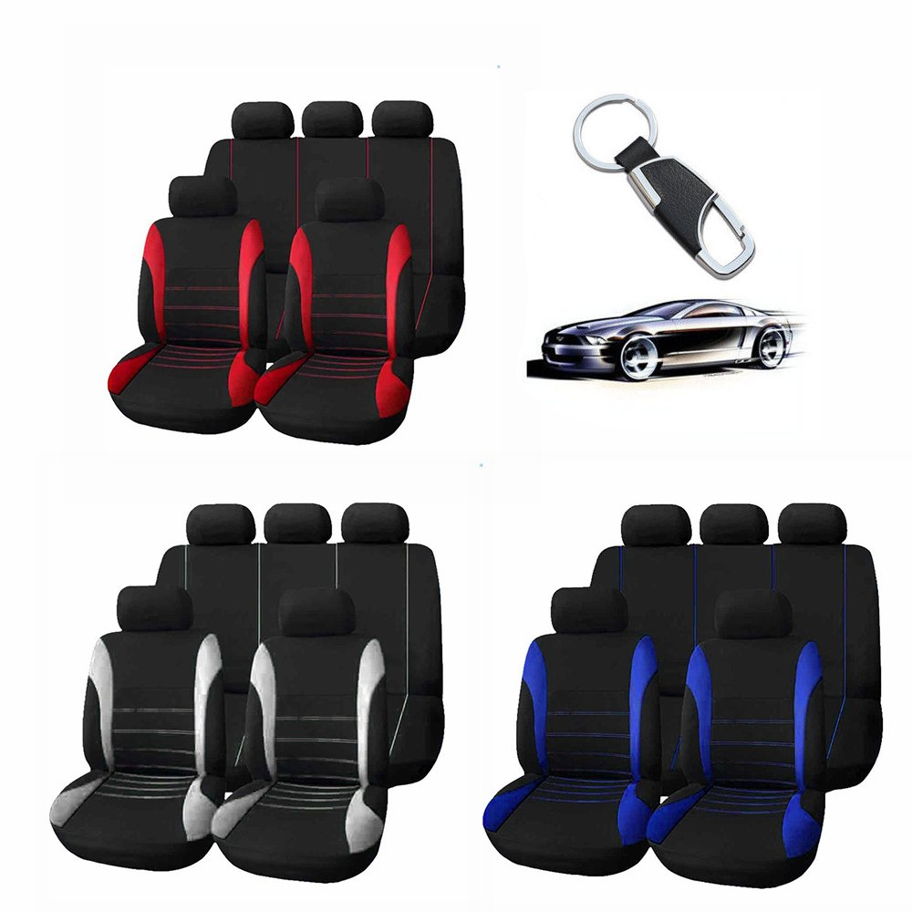 KKmoon 9pcs Universal Car Seat Cover Cloth Art Auto Interior Decoration Protect Covers for Four Seasons
