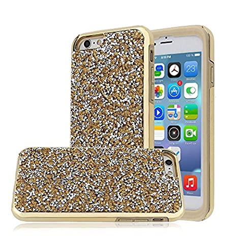 iPhone 6/6S Plus Case, Heavy Duty Rhinestone Sparkly Bling Dazzle Diamond [Anti-Discoloration, Durable TPU Rubber] Twinkling Stylish Design with Shiny Glitter (Iphone 4 Otterbox Armor Case)
