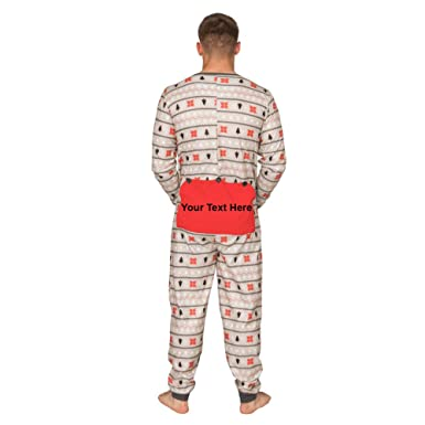 Custom Add Your Text Butt Flap Family Christmas Pajama Union Suit at Amazon  Men s Clothing store  8626e55cf