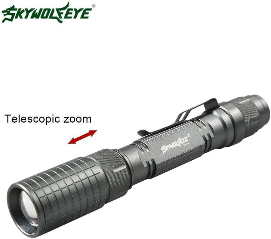 Skywolfeye Zoom 10000LM X-XM-L T6 LED Taschenlampe Fackel Lampe Licht Wandern UK