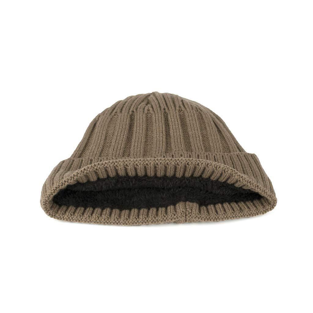 KUDICO Adult Unisex Casual Beanie Skull Cap Hedging Hat Ski Caps Mens Womens Winter Warm Plus Velvet Thicken Knit Hat