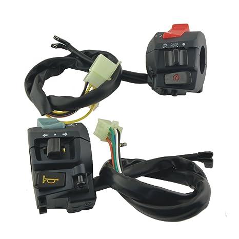 Zantec Interruptor botón de motocicleta bicicleta de manilla del embrague para LED faro,1 par