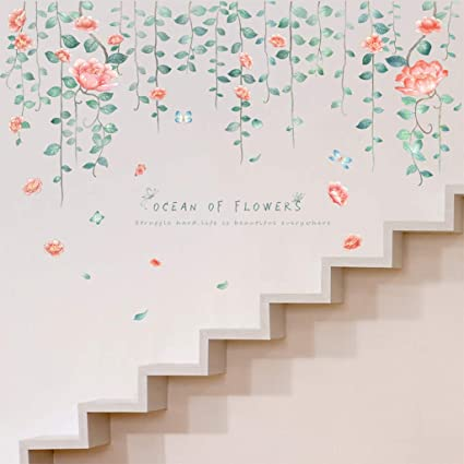 Amazon Com Quaanti Beautiful Flowers Wall Decals Home Decor