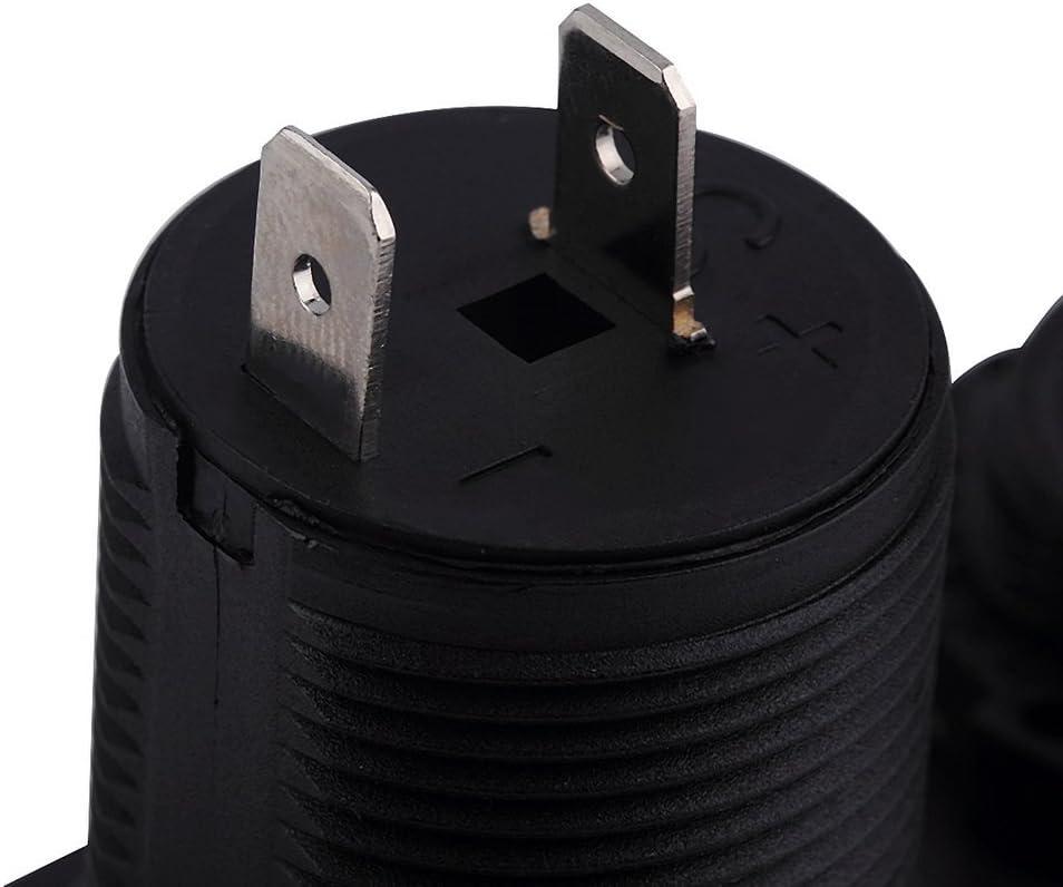 Kitechildhood Adaptateur de Prise de Chargeur de Voiture Allume-Cigare Allume-Cigare /à Double Chargeur Noir 103 43 60mm