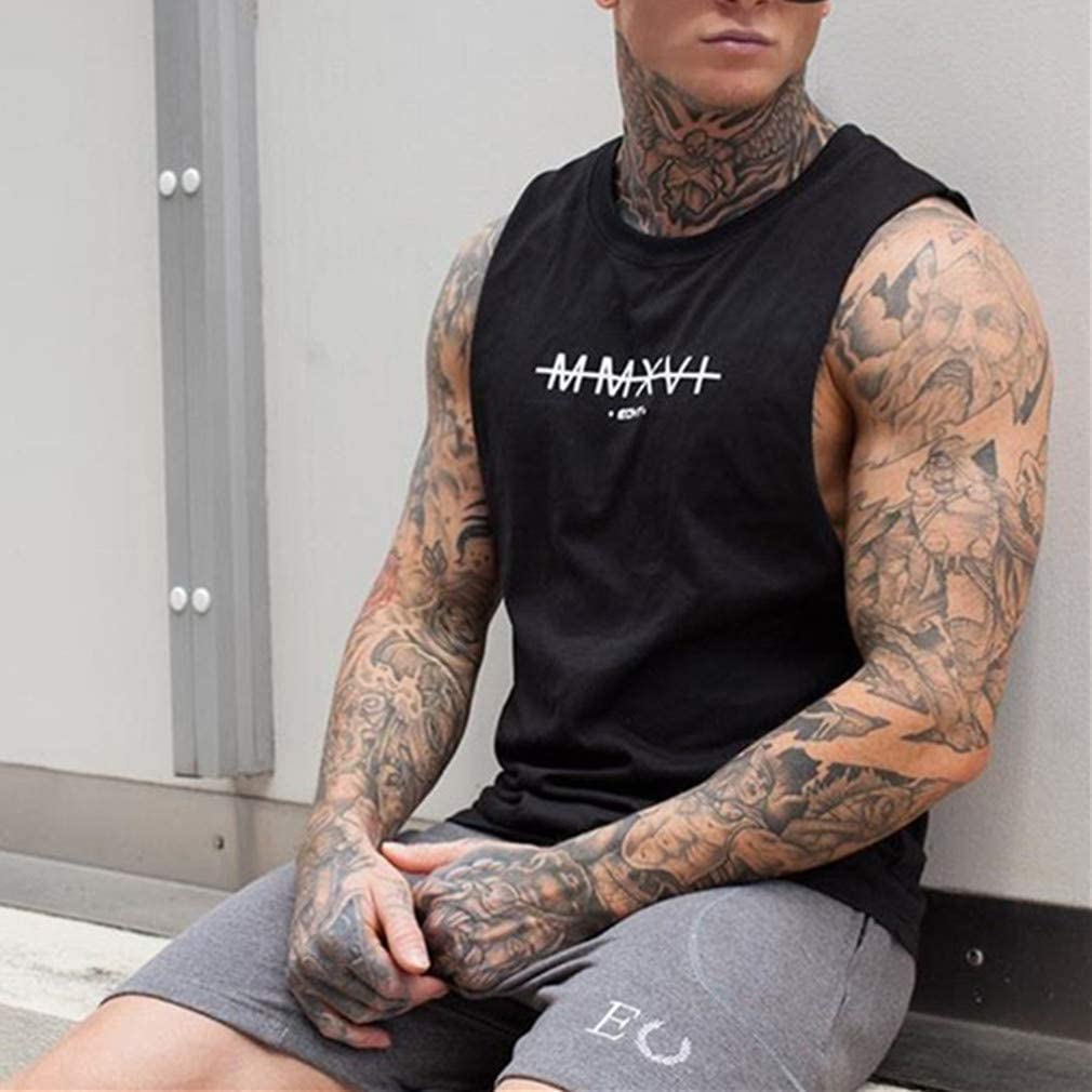C/ómodo Transpirables Fitness Gym Muscular Absorbente Chaleco Bodybuilding Tank Top Sport Vest Culturismo Fansu Camiseta de Tirantes para Hombres