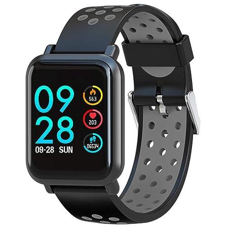 TONGTONG Smartwatch 2.5D Pantalla Gorila Vaso Sangre oxígeno ...