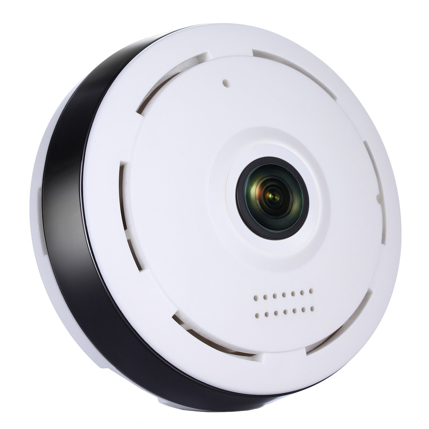 Veoker IP Camera Wireless Wifi 360 Degree Panoramic 2.0 Megapixel 1080P 2.4GHZ Security Camera Super Wide Angle Support IR Night Motion Detection Keep Your Pet & Home Safe by Veoker