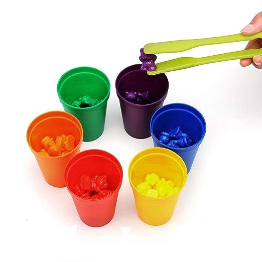 wenjuersty Montessori Rainbow - Juego de Mesa (60 Unidades ...