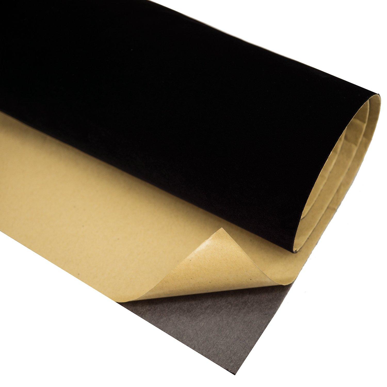 Self Adhesive Velvet Flocking Liner for Jewelry Drawer Craft Fabric Peel Stick17.7'' x 78.7'' (Black)