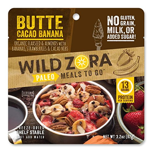 Meal Banana - Wild Zora - Paleo Meals to Go for Backpacking and Camping (Butte Cacao Banana)