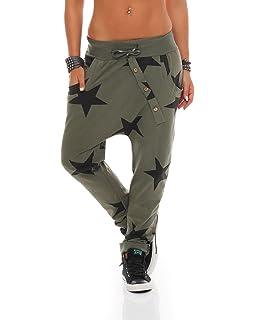 82878ca881 ZARMEXX señoras pantalón holgado de novio con botones pantalones deportivos  pantalones de chándal de algodón pantalones